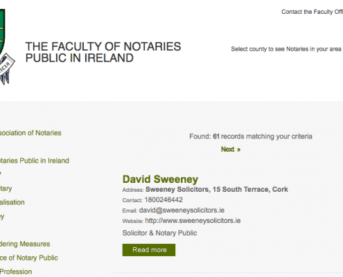 notary public cork